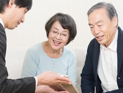 写真:損害保険代理店として安心なその後の暮らしをサポート。
