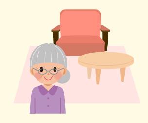 画像:全室完全個室家具・調度品持込もOK